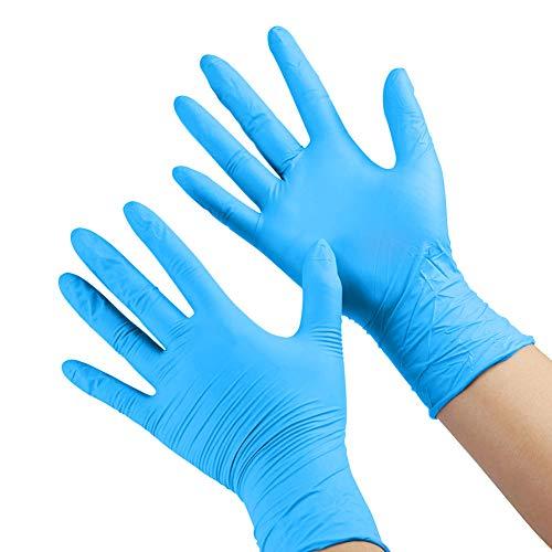FRFJY Guanti monouso da 100 pezzi per bambini, guanti in nitrile per 4-12 anni - Senza lattice, per uso alimentare, senza polvere - per lavorazione, pittura, giardinaggio, cucina, pulizia