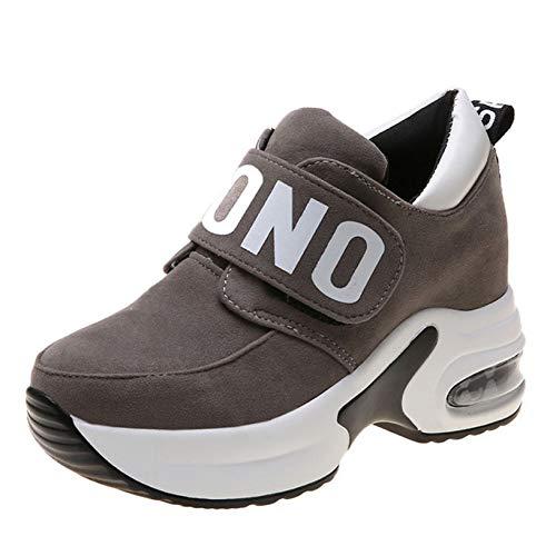 Zapatillas de cuña con Plataforma para Mujer Zapatillas cómodas y Ligeras de caña Baja Zapatos Casuales Deportivos Antideslizantes Que absorben los Golpes para Mujer