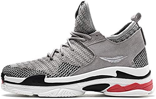 LOVDRAM Chaussures Hommes Spring New Hommes's chaussures Sports chaussures Non-Slip Wear-Resistant Outsole Flying Woven Sports Wind