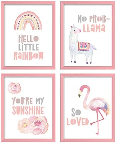 ArtbyHannah 4 Pack 8x10 Inch Unframed Rainbow Wall Art Print Artwork Poster Picture Print for product image