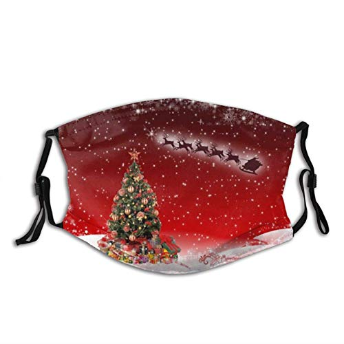 Christmas Tree Face Mask Dustproof Breathable Protective Scarf Reusable Adjustable Washable Fashion Bandana Made In USA