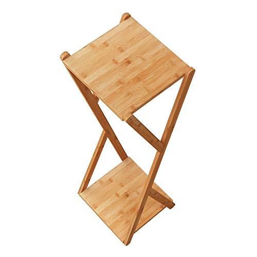 LWJJHJ Bloemenstandaard Krukje Bloemenstandaard Krukje Vierkant Bijzettafel Tall Pot Stand - Bamboe bloem stand. houten platte top in Bloemisten voetstuk