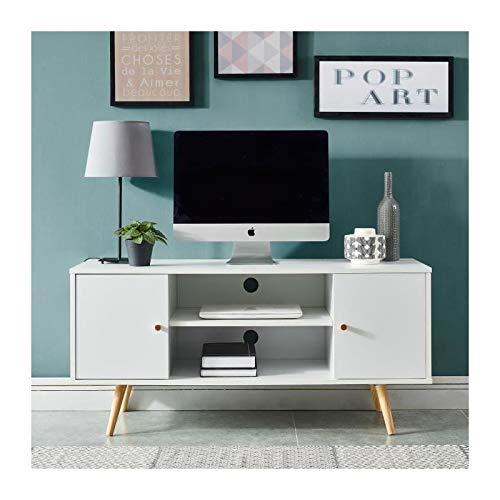 BAÏTA Meuble TV, Blanc, L116cm