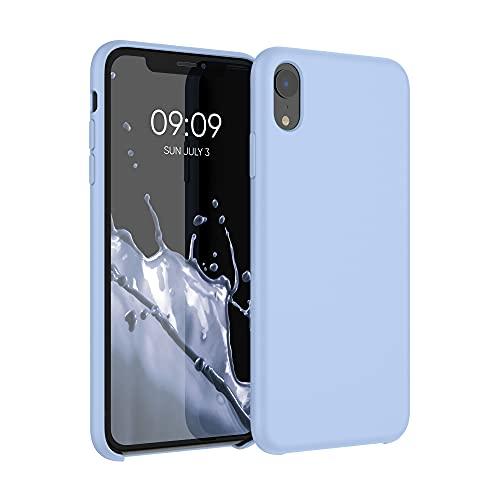 kwmobile Hülle kompatibel mit Apple iPhone XR - Hülle Silikon gummiert - Handyhülle - Handy Hülle in Hellblau matt