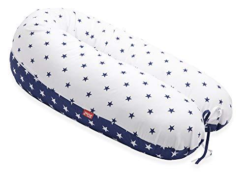 AKTION! SCAMP Stillkissen universales Schwangerschaftskissen inkl. Bezug verschiedenes Design NEU (Blue White Star)
