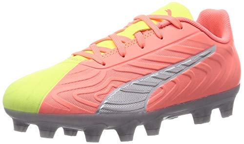 PUMA One 20.4 HG JR OSG Boys Soccer Cleats-Yellow-3.5