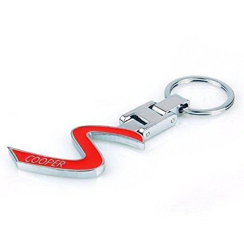 Chrom ROT S Schlüsselanhänger Chrom MINI COOPER S Schlüsselanhänger