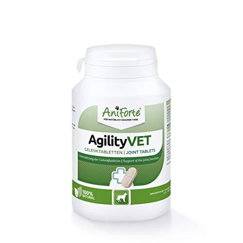 AniForte AgilityVET en Comprimidos para Perros. 120 Comprimidos. 100{01cc4946e69f6e2c8b274bfc60f0e203c649c19fb760017c0076f482ad994ae1} Natural con Mejillón de Labios Verdes. Garra del Diablo, Colágeno, Glucosamina y Condroitina
