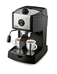 Use convenient pods or ground coffee with the patented dual function filter holder. It makes espresso preparation simple and fast Easily prepares latte and cappuccino with the swivel jet frother, for perfect drinks every time. Rated voltage/Frequency...