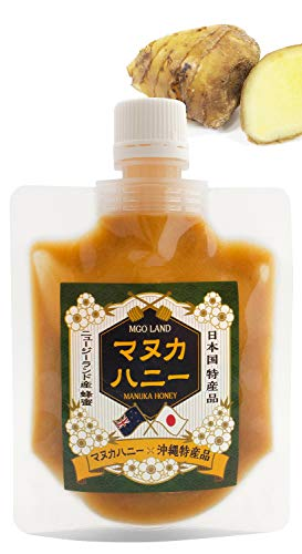 MGO LAND マヌカハニー お試し 携帯用 MGO220 非加熱 マヌカ マヌカ蜂蜜 はちみつ 100g (ジンジャー)