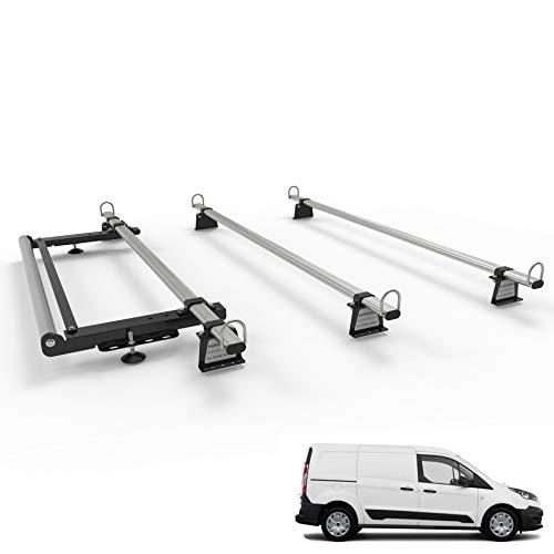 TRANSIT CONNECT Baca de 3 barras Mk2 LWB-L2 (gama de modelos de 2013 en adelante) – Autorack WorkReady con rodillo