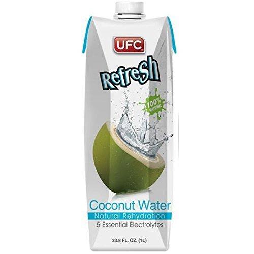 UFC - 100% natürliches Kokoswasser - 6er-Pack (6 x 1 Liter)