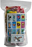 Mexican Candy Assortment Snacks (64 Count) Variety Of Spicy, Sweet, Sour Bulk Candies Dulces Mexicanos, Lucas Candy, Pelon, Vero Lollipop, Pulparindo (Mexican Mix + Loteria, 65 Piece Set)