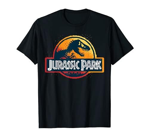 Jurassic Park Pixel Art Logo Maglietta