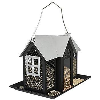 TRIXIE - Mangeoire Oiseau Villa en métal. Dimensions: 26 × 19 × 19 cm - TR-55410