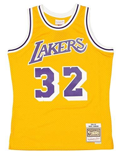 Mitchell & Ness NBA LA Lakers Swingman 2.0 Magic Johnson Basketballtrikot Herren gelb/lila, M
