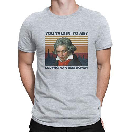 Camisetas vintage para hombre, con cuello redondo, con texto en inglés