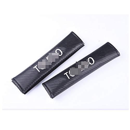 JzyhNzd para Seat Toledo, 2pcs PU Cinturón de Seguridad para automóvil Hombreras Cubierta del cinturón de Seguridad del automóvil