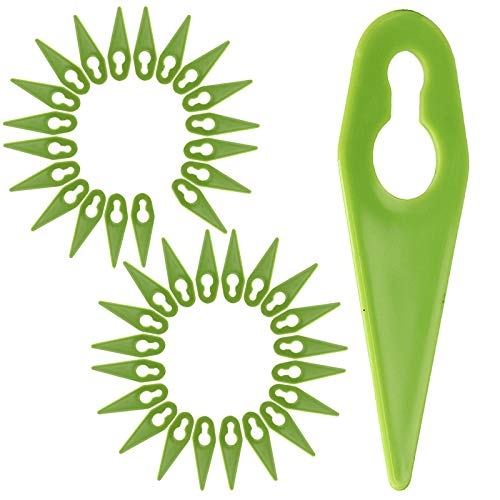 SPARES2GO Plastic Blades for Gtech ST01 ST02 ST04 ST05 ST20 Grass Trimmer Strimmer (Pack of 40)