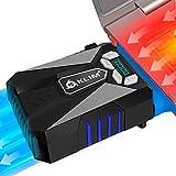 KLIM Cool Universal Raffreddatore per PC Portatile – Ventola ad Alte Prestazioni per Una Veloce Azione di Raffreddamento – Estrattore di Aria Calda USB - Blu [ Nouva Versione 2021 ]