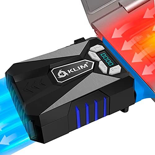 KLIM Cool – Refrigerador para Ordenador Portátil – Ventilador de Alto Rendimiento para Una Rápida Refrigeración, Aspiradora de Aire USB, Azul [Nueva Versión 2021 ]