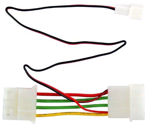 Revoltec voedingskabel 3-polig naar 4-polig maakt de aansluiting van een 7V ventilator mogelijk