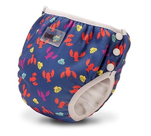 Bambinex Baby Bambinex 2er SPARPACK ** 2in1 Swim n Train ** Schwimmwindel + TrainerPant in Einem ! (Small (8-11kg), Lobster)