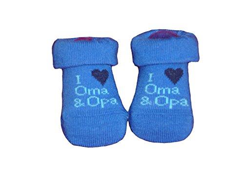Wowarat Baby Mädchen Jungen Erstlings Söckchen Strümpfe Sneaker Socken für 0-5 Monate in Geschenkbox Blau Oma Opa