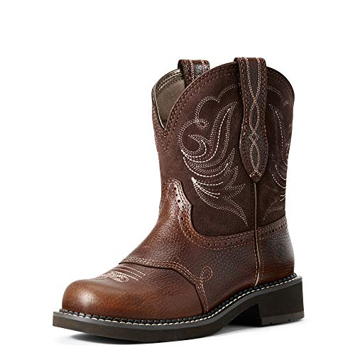 Ariat Women's Fatbaby Leather Western Boots, Copper Kettle, 7.5