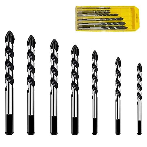 ZFYQ Set de Brocas para Azulejos, Apto para Diferentes Materiales, como Cemento, Cerámica, Vidrio, Plástico, Madera, con Caja de Almacenamiento