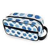 Abstrait Blueberry Polka Dots Outils Cosmétique Train Case Box Portable Maquillage Sac Trousse De Toilette De Stockage Voyage Voyage