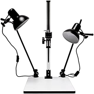 Albinar High Load 28 inch Copy Macro Stand with 15.75 inch x 19 inch Base, Quick Release Mount and Lights