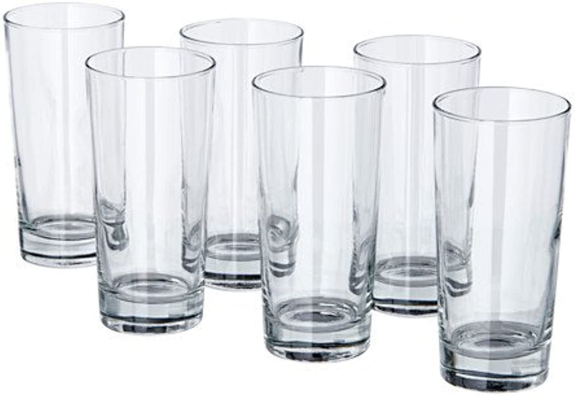 IKEA Godis Glass Clear Glass 6 Pack IKEA Godis 14 Oz 6 Pack