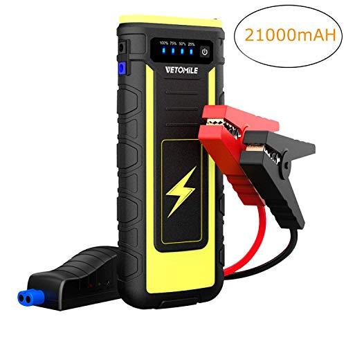 VETOMILE Avviatore di Emergenza - 800A 21000mAh Avviatore Batteria Booster...