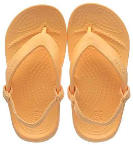 Crocs Classic Flip Kids, Infradito Unisex-Bambini, Arancione (Cantaloupe 801), 33/34 EU