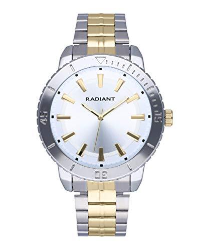 Reloj analógico para Hombre de Radiant. Colección Storm. Reloj con Brazalete Bicolor en Plateado y Dorado. 5ATM. 44mm. Referencia RA570203.