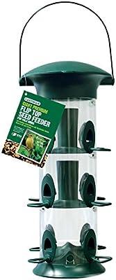 coraz/ón animal salvaje I Comedero para p/ájaros de 23,5 cm comedero para p/ájaros silo de metal inoxidable comedero para p/ájaros verde