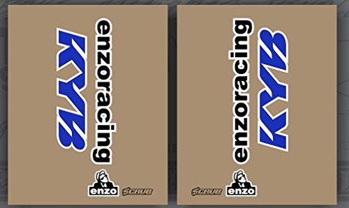 Kayaba Gabel Aufkleber KYB ENZO transparent blau Yamaha Kawasaki Suzuki