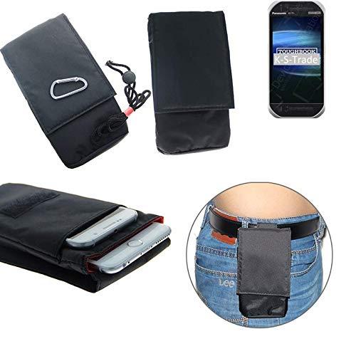 K-S-Trade® Gürtel Tasche Panasonic Toughbook FZ-T1 Brusttasche Brustbeutel Schutz Hülle Smartphone Case Handy Schwarz Travel Bag Travel-Case Vertikal