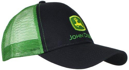 John Deere NCAA Herren Logo Kontrast Mesh Back Core Baseball Cap - Schwarz - Einheitsgröße