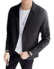 WEEN CHARM テーラードジャケット メンズ 7分袖 長袖 サマージャケット 細身 ジャケット 春夏 タイト ジャケット メンズ カジュアル ジャケット ビジネス ストレッチ ブラック ベージュ