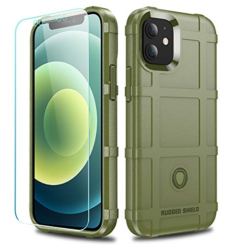 LABILUS Schutzhülle für iPhone 12 Mini (13,7 cm / 5,4 Zoll), TPU, dick, robust, Militärgrün
