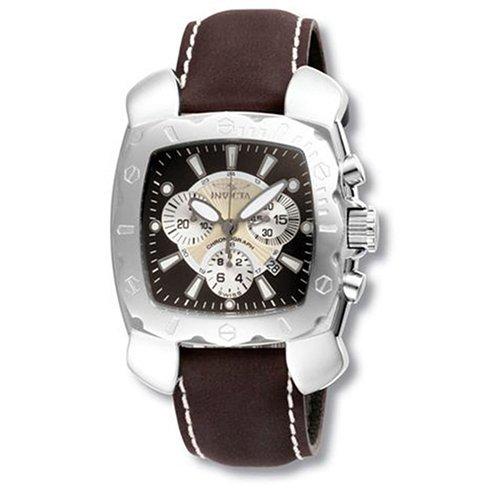 Invicta Lupah Cuadrado Espadon 3177–Reloj cronógrafo con Esfera y Correa de Color marrón marrón/Plata