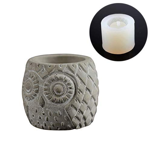 Owl Flower Pot Molds Concrete Silicone Mold DIY Ashtray Candle Holder Mould
