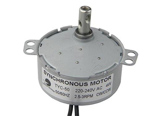 Synchronmotor TYC-50 AC 220V 2.5-3RPM CW/CCW Getriebemotor Langsam laufender Elektromotor