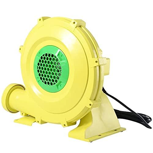 NWB 480W Gebläse Elektrisch Luftpumpe Ventilator,Kommerziell Kraftvoll Gebläse Maschine für Aufblasbar Wasser Trampolin Jumper Federnd Schloss, (Gelb)