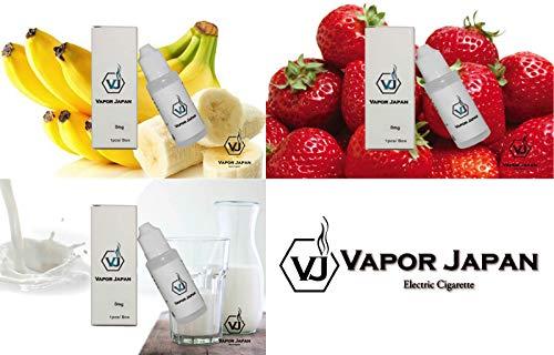 国産ブランド☆5ml �J バナナ ストロベリー ミルク 電子タバコ リキッド 3本 セット 5ml ベイパージャパン