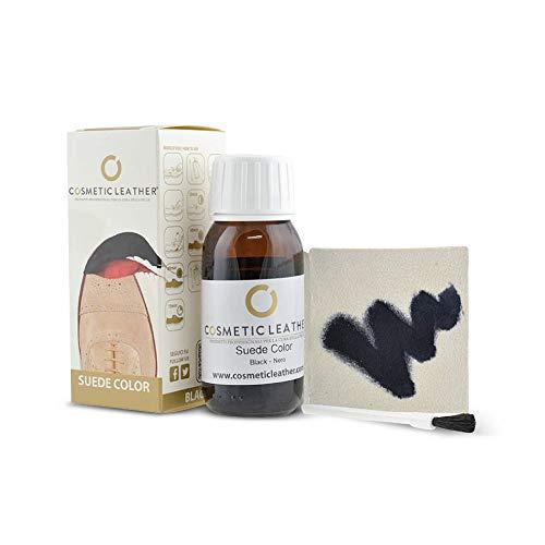 Tintura liquida Nero per Scarpe in camoscio, Vernice per Accessori in Pelle Scamosciata 50 ml