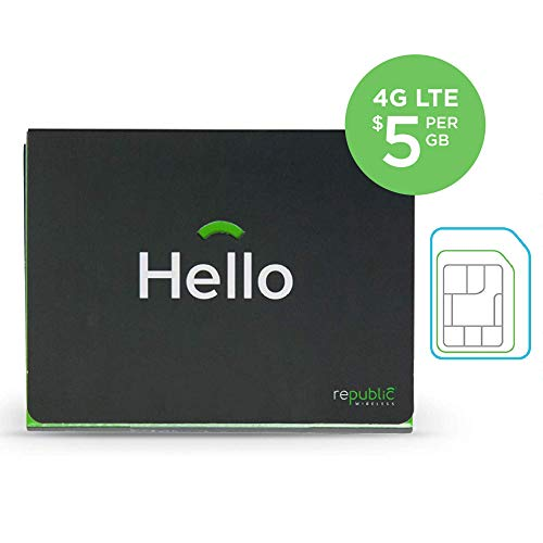 Republic Wireless SIM Card Kit With 3-in-1 SIM for No Contract Cell Phone Service – Bring Your Own Compatible Android Phone From List Image Below - Plans Start at $15/Month