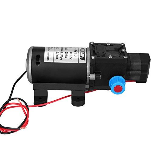 Qiilu 12 V DC Selbstansaugende Wasserpumpe mit hoher Druckmembran DC 100 W 8 l/min 160 Psi für die Wäsche